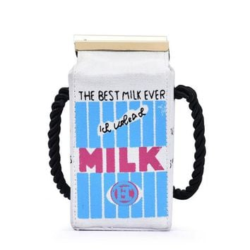Cute Unique Milk Box UNICORN Clutch Bag