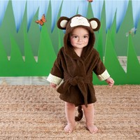 Adorable Baby Spa Robe (Monogram Available) - Monkey