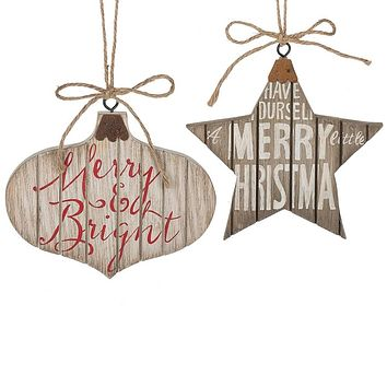 Text Shaped Ornament - 2 Styles