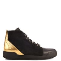 Bony suede and leather high-top trainers | Balmain | MATCHESFASHION.COM US