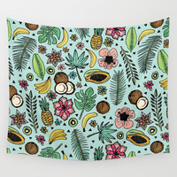 Tropical Fiesta Wall Tapestry by Tangerine-Tane