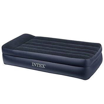 Intex Pillow Rest Raised Airbed with Built-in Pillow and Electric Pump, Twin