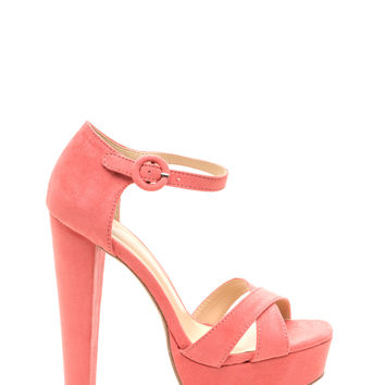 All For Show Faux Suede Heels