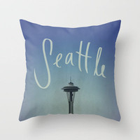 Seattle Throw Pillow by Leah Flores | Society6