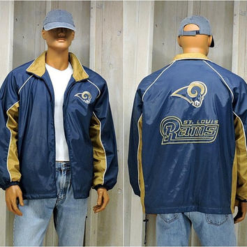 90s St Louis Rams Starter Jacket / Mens L / LA Rams / Vintage NFL Football / Bomber jacket