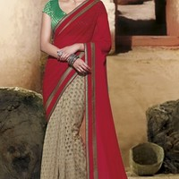 Buy Dazzling Designer Party Wear Sarees, Printed Cotton Sarees Online at Shibori Fashion