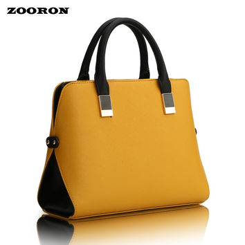 ZOORON New Women Bag 2017 Waist Shape Portable Oblique Cross Single Shoulder Bag women PU leather handbag messenger bags