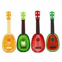 38cm Fruits Cute Style 4 String Plastic Ukulele Guitar Musical Instrument Kids Children Development Educational Toy Gift
