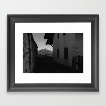 Window to the Mountains Framed Art Print by Tomas Hudolin