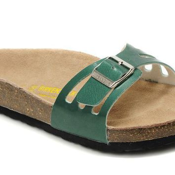 Birkenstock Molina Sandals Artificial Leather Green - Ready Stock