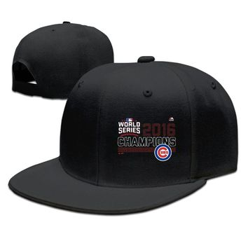 Chicago Cubs 2016 World Series Champions Big & Tall Fierce Favorite Printing Unisex Adult Womens Hip-hop Cap Mens Fitted Hats