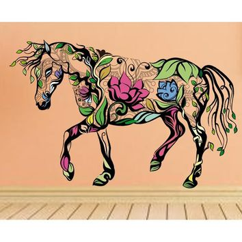 Multi-color Horse Wall Sticker Art Decals Kids Room Decor DIY Removable PVC Mural