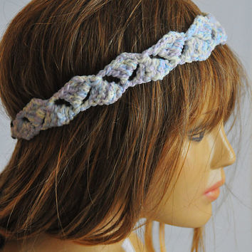 crochet Headband hair accessories hair band Boho Bohemian Women girls  hippie Hair Piece gift ideas handmade for women etsy sales headpiece