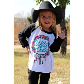 """Crazy Train """"Wild Child"""" Raglan Tee - From the Crazy Train Clothing Line!"""
