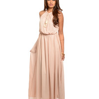 TWO LEFT Boho Blush Maxi Dress
