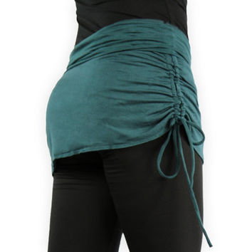Teal Adjustable Yoga Skirt- Dark Teal Mini Skirt