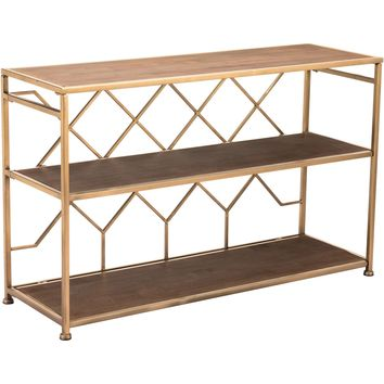 Brown Equis Console Table