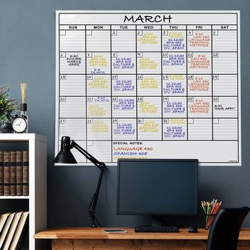 HUGE 4 FT Dry Erase Calendar Board + Accessories