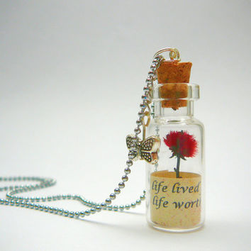 Personalized Necklace Message in a Bottle by CaptureMyArt on Etsy