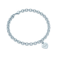 Tiffany & Co. - Return to Tiffany™ heart tag necklace. Sterling silver.