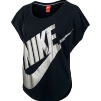 Nike Women's Metallic Signal Short Sleeve Shirt