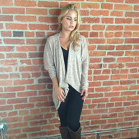 Mocha Knit Hi Low Cardigan