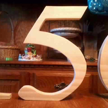 DIY wood number (5) 9 inch letters/numbers Wooden Letters home decor signs handmade
