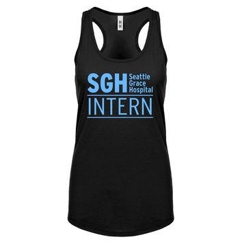 Racerback Intern Seattle Grace Hospital Womens Tank Top