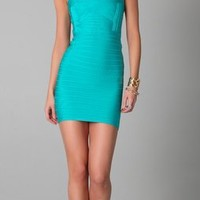 Herve Leger Square Neck Sleeveless Dress | SHOPBOP