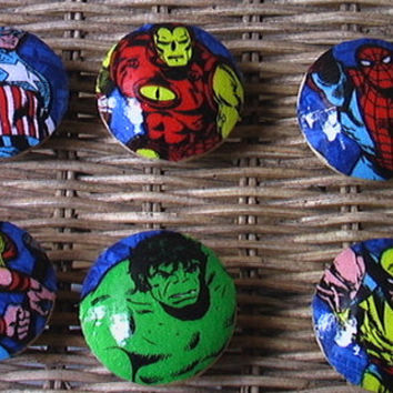 Handmade Knobs Drawer Pull  Marvel Avengers by QuillowShop on Etsy