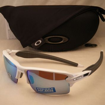 Oakley Flak Jacket 2.0 XL Polished White w Prizm H20 Polar Lens (oo9188-82)