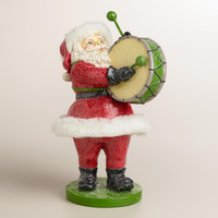 Paper Pulp Santa with Drum - World Market
