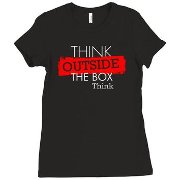 think outside the box thinker Ladies Fitted T-Shirt