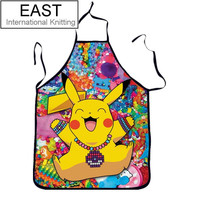 2015 Hot Sale Pikachu Funny Apron Novelty Pokemon Sexy Party Aprons Cooking Kitchen Pinafore
