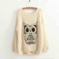 Owl Comfort Ma Haimao Turtleneck Sweater from Showmall