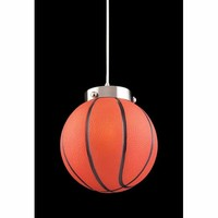 Elk Lighting 5137/1 Basketball Satin Nickel Pendant