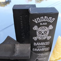 Voodoo Black Bamboo Charcoal Natural Shampoo Soap Bar Tasmanian Made