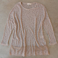 Knit and Lace Sweater [4870] - $25.60 : Vintage Inspired Clothing & Affordable Dresses, deloom | Modern. Vintage. Crafted.