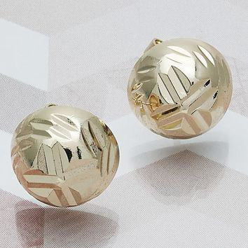 Gold Layered Women Stud Earring, by Folks Jewelry