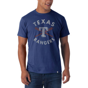 Texas Rangers - Crossed Bat Logo Flanker Premium T-Shirt