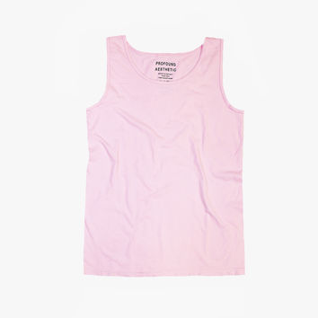 Pigment Dyed Basic Tank Top in Blossom