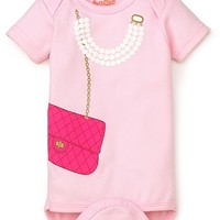 Sara Kety Infant Girls' Bag & Pearls Bodysuit - Sizes 0-18 Months