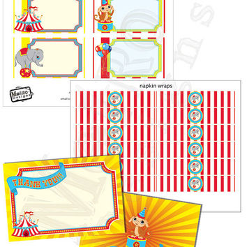 Instant Download - Circus Party Mini Kit