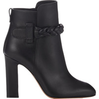 Braided-Strap Ankle Boots