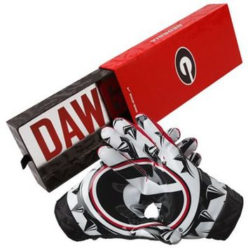 Nike Georgia Bulldogs 2011 Pro Combat Rivalry Vapor Carbon Gloves