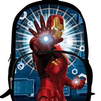 Cool Backpack school 16-inch Cool Superhero Backpacks For Boys Girls Ironman Bag For School Kids Bookbags For Children Teenagers Travel Casual Bag AT_52_3