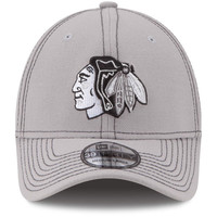 Chicago Blackhawks New Era Shader Classic 39THIRTY Flex Hat - Gray