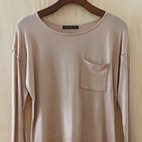 Cute As A Button Knit Sweater, Taupe (Look Behind!)