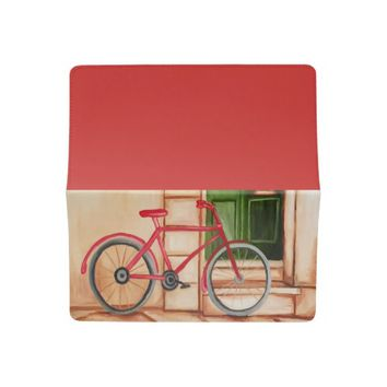 Bicycle Oil Painting Checkbook Cover