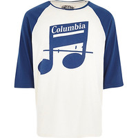River Island MensBlue Worn By Columbia Records t-shirt